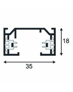 SLV 143012 Circuit surface-mounted track 1m silver-grey