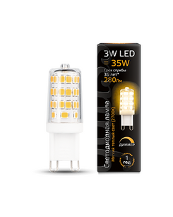 Лампочка Gauss 107309103 LED G9 AC185-265V 3W 2700K